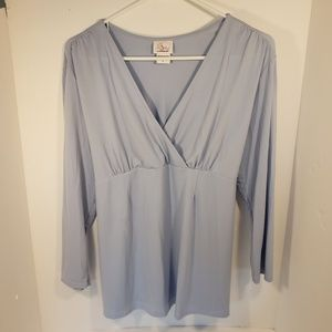 Oh Baby! By Motherhood Light Blue Blouse, Large